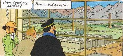 Tintin en la luna (genial)