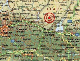 apri il dettaglio con i dati dell'evento sismico