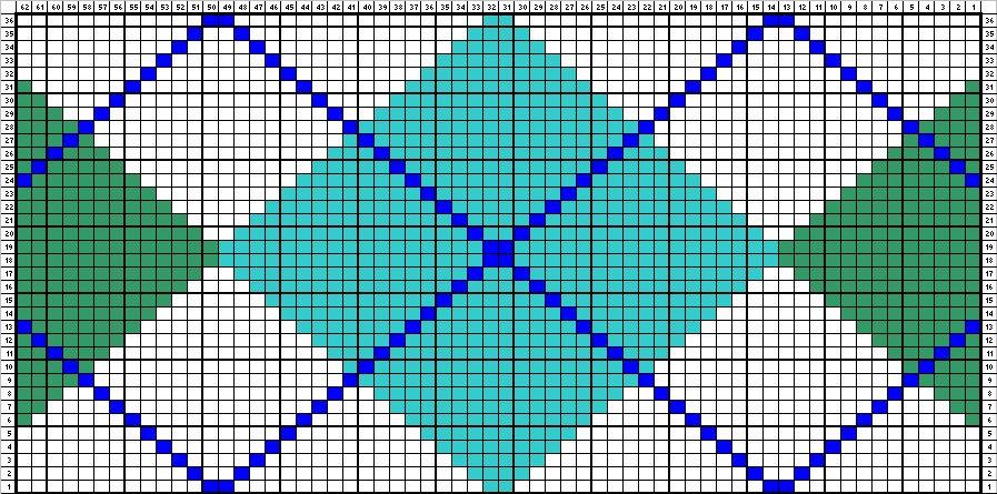 Chrissys Knitting Charts & Patterns: Argyle Chart
