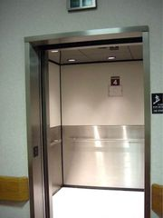 Clean, inviting floor inside a lift?