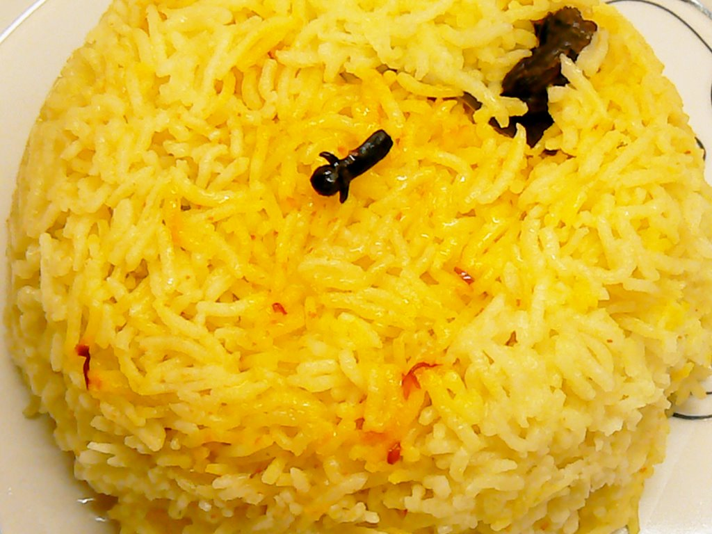 rice persian sour cherry saffron rice persian rice pilaf with saffron ...
