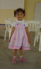 Niña Nathalia Sofía Navarro Melo, hija de la tutora Ps. Sandra Melo