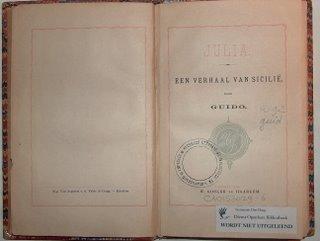 Titelpagina Julia; particuliere collectie