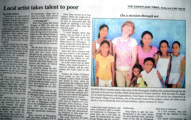 newspaper article on the mission