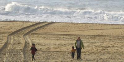 My family, Vieux-Boucau, Dec. 2004