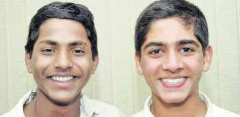 Boddepalli Manoj Kumar (left) and Mohd. Shaibaaz Tumbi (right)