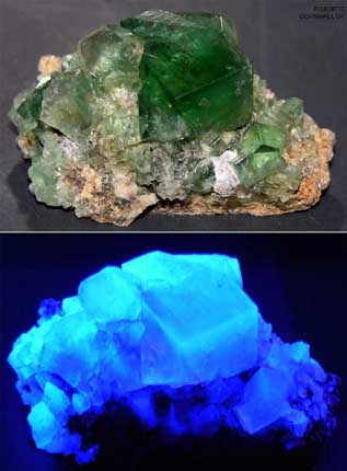 Fluorite Green from Cornwall, England