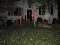 A house with Halloween decorations