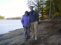 Mark and me by the lake