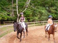 Emily riding a horse
