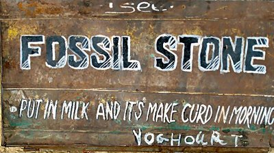 Fossil Stone sign