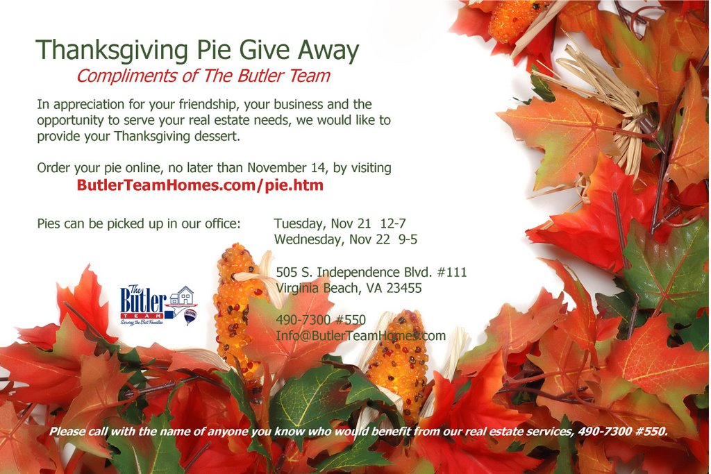 My Real Estate Assistant Thanksgiving Marketing