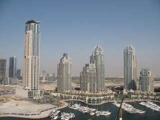 Space Age City - a view over Dubai Marina