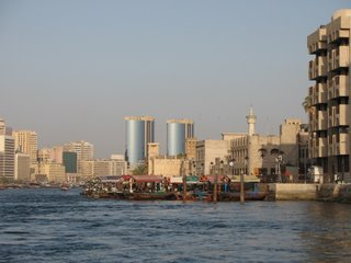View from an Abra - taking the ferry across Dubai Creek