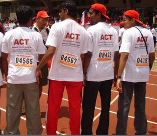 At the Bangalore Marathon - The Contenders :D