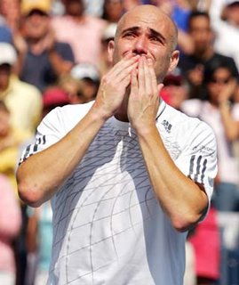 Agassi bidding farewell...