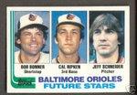 1982 TOPPS CAL RIPKEN JR. FUTURE STAR ROOKIE CARD