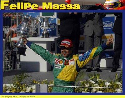 Felipe Massa, dando alegria a todo o país!