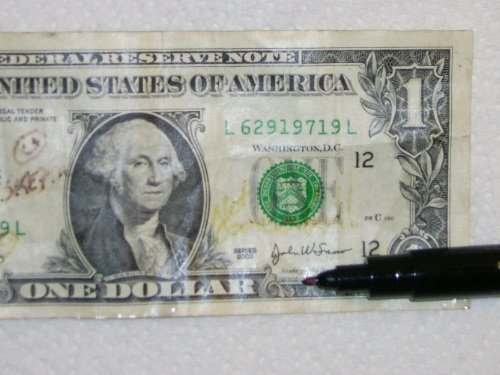 Theadus Blog Testing The Counterfeit Money Detector Pen By Drimark Fresno Atheist And Skeptic