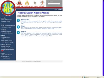 Delhi Police Zipnet Website