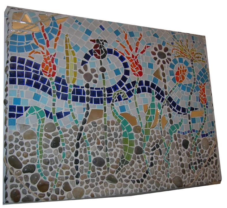 Decoration mosaique carrelage for Carrelage 5x5 bleu