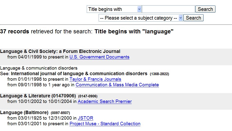 journal articles on language disorders