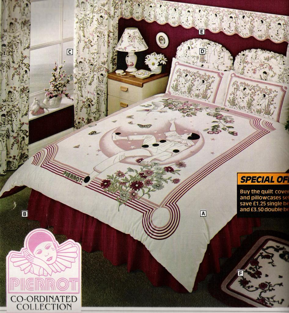 ... in a 1983 mail order catalogue for some more stylish '80s bedding