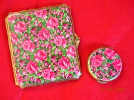 A Stunning Pair of Compacts, this is a Cigarette Case, and a Miniture Powder Compact