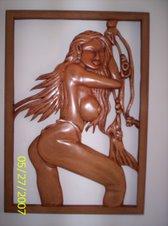 Desnudo Mujer tallado en madera