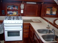 Yacht Keturah galley