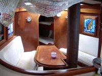 Yacht Keturah saloon