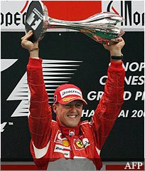 Michael schumacher retires fernando alonso formula one chinese grand prix