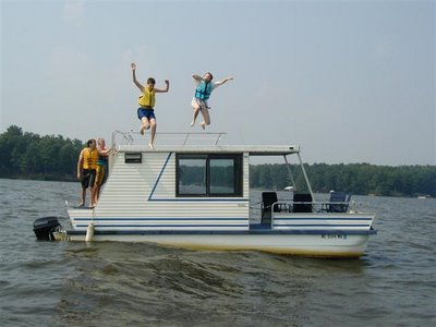 jumping from houseboat