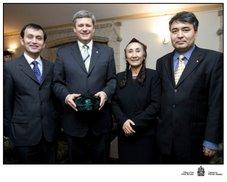 Prime Minister with Rabiya Kadir