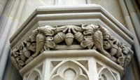 Hand-carved stonework