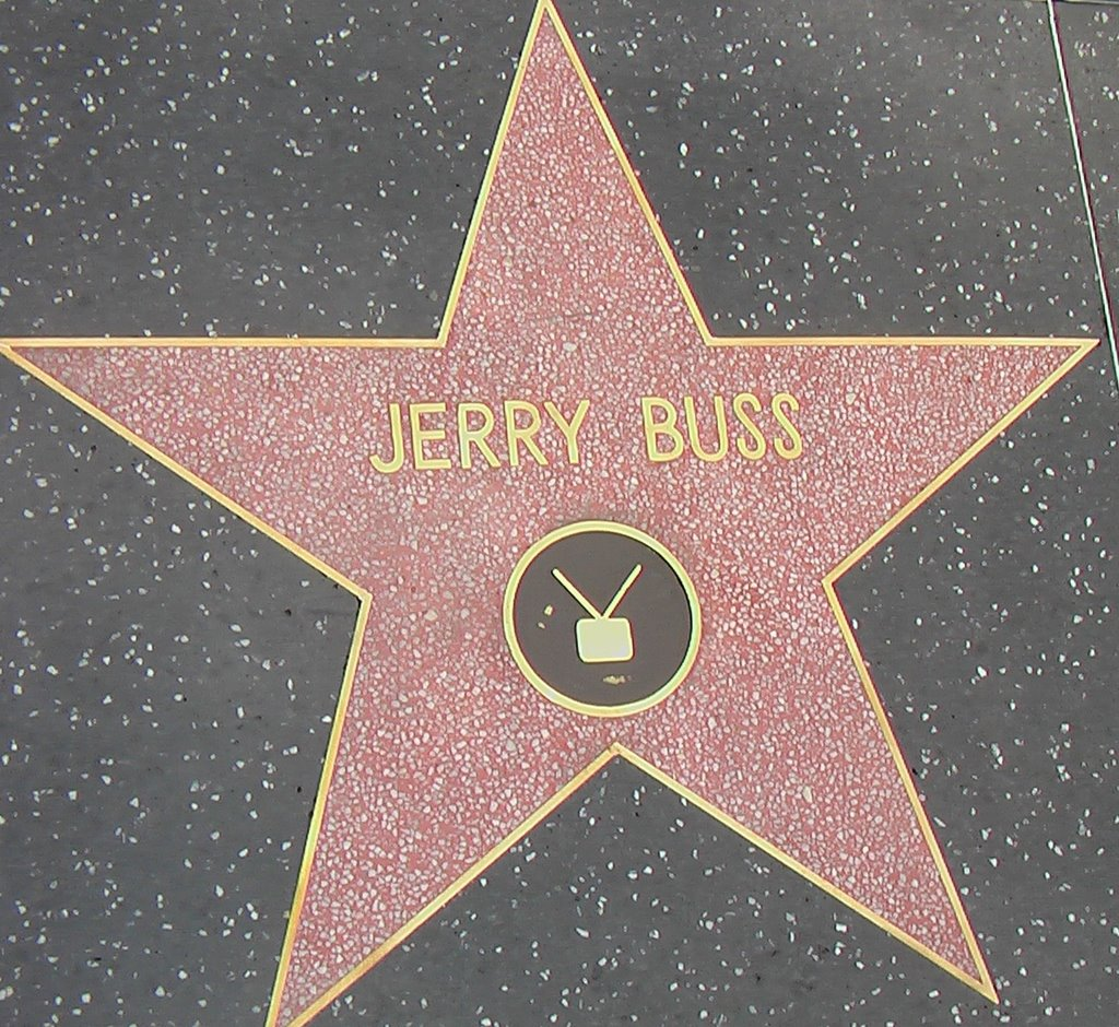 Image result for jerry buss and star on walk of fame