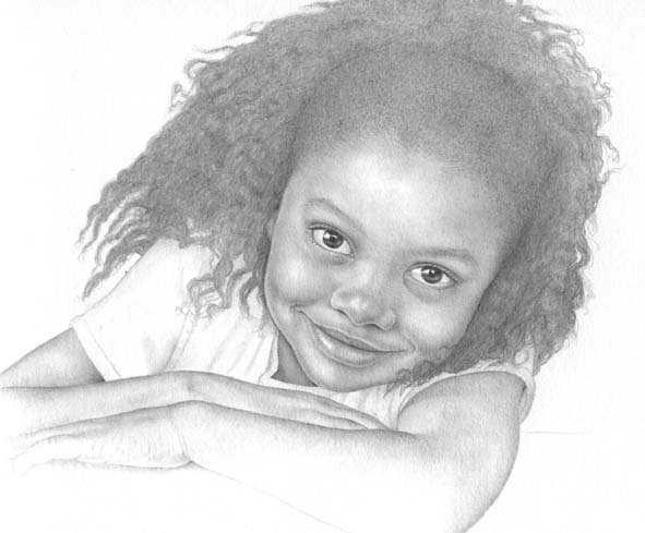 We moved to kuwait in 2001 this little girl was drawn from a picture i saw in a magazine in october of that year after this drawing i felt that the time
