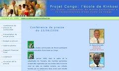 Projet congo: reconstruction d'une école à Kinkosi