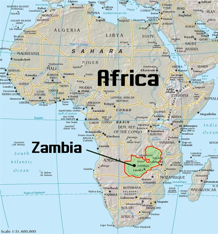 Chad In Zambia The Beginning - Where is zambia