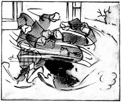 Kapteeni ja Ville -sarjakuvan ruutu