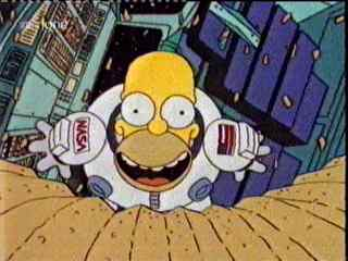 Homer in Space as homage to 2001: A Space Odyssey