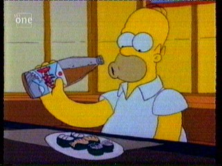 Homer Eats some tasty fish