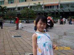 筱琪在KLCC广场