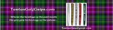 TartanGolfGrips.com for personalized  golf grips