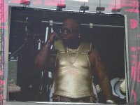 Cee-Lo in a metal breastplate