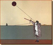 Marino de la época utilizando los instrumentos de navegación que hicieron posible las exploraciones
