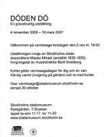 Döden dö - en utställning på Stockholms stadsmueeum