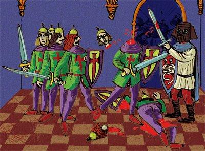 Frikipedio entra en el Palacio de Eirís cortando qué se yo, piernas, brazos, cabezas...