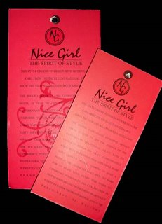 Nice Girl - clothing tag
