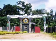 entrance to the national park
